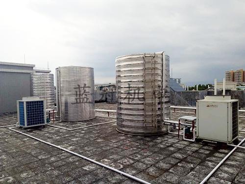 小城商务酒店5P机空气能热水工程