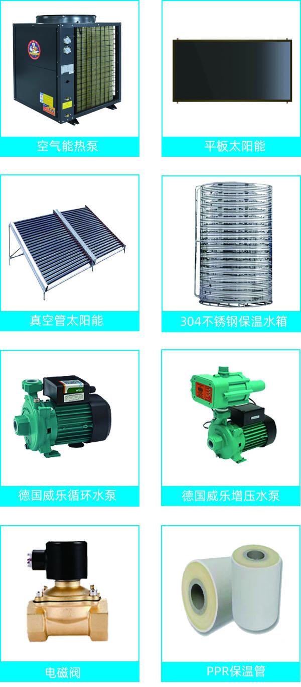 热水工程产品配置